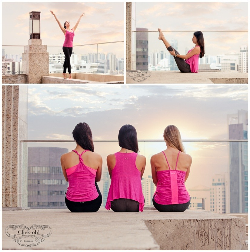 3 Models wear pink yoga clothing