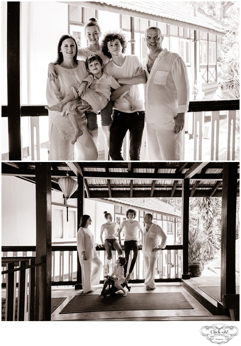images of family in their black and white house