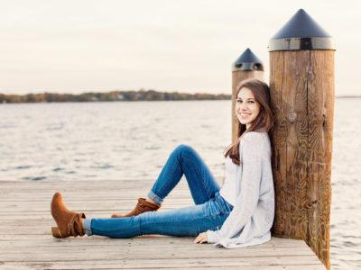 senior pictures by the lake