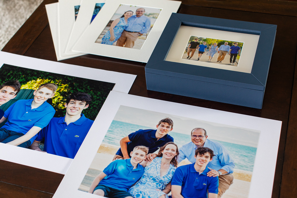 prints, reveal box and enlargements
