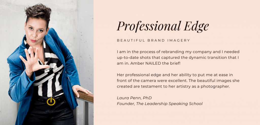 Review for personal brand photographer Amber Roberts